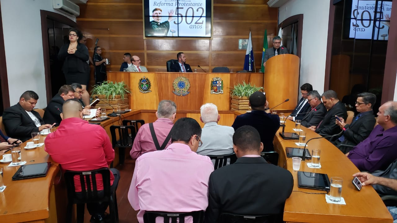 Câmara realizou sessão especial em celebração aos 502 anos da reforma protestante