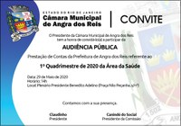Câmara receberá prestação de contas da saúde do município