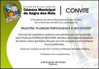 Evanildo Bechara fará palestra na Câmara de Angra