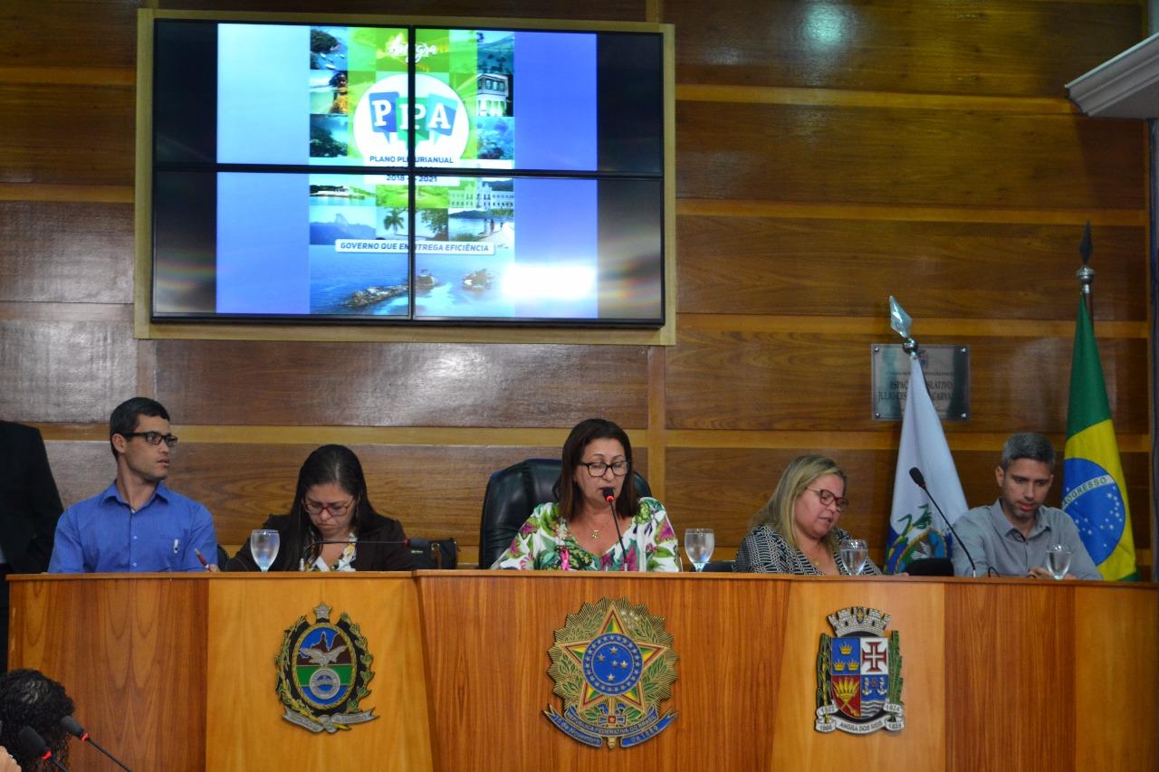 Vereadores acompanham apresentação do PPA