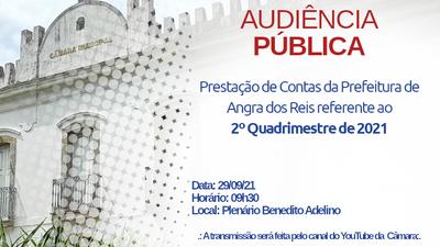 Convite: Prestação de contas do 2º Quadrimestre de 2021 - Prefeitura