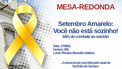 Mesa-Redonda: Setembro Amarelo - Você não está sozinho!